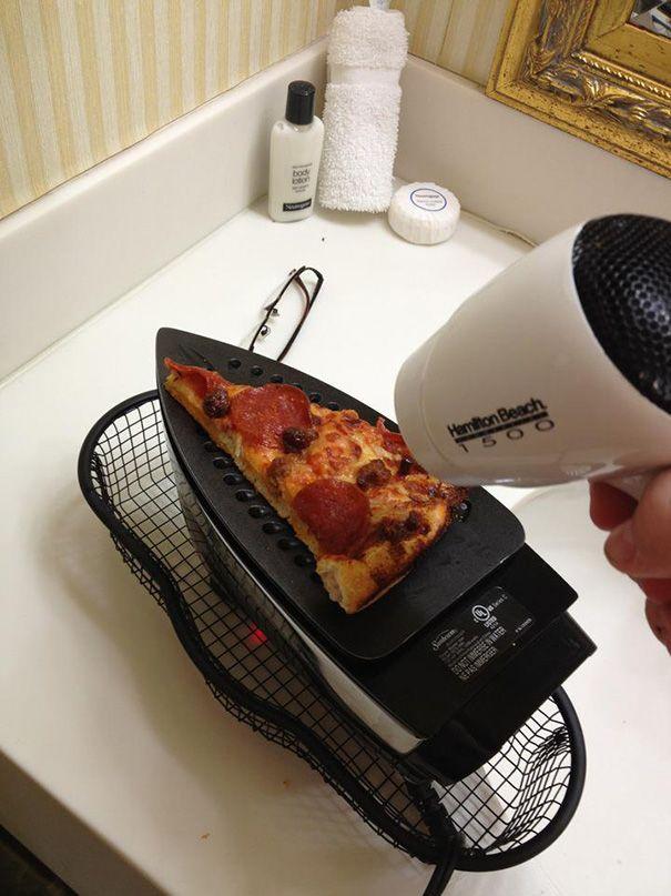 Нема на чому розігріти піцу