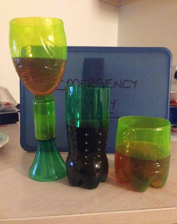 Келихи з пластикових пляшок