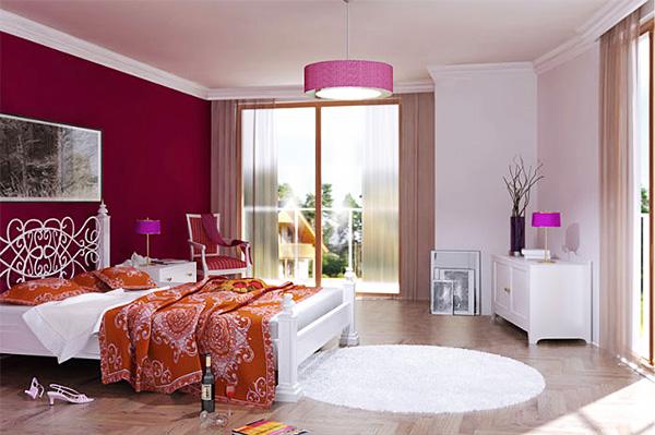 Романтичне оформлення спальні для молодят
