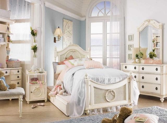Спальня в стилі Шеббі шик