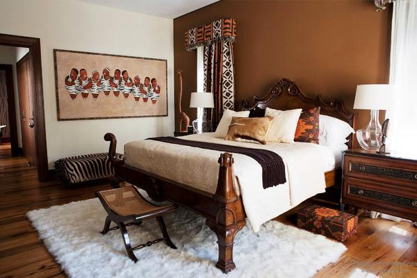 Спальня в африканському стилі