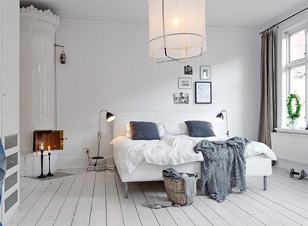 Спальня в скандинавському стилі