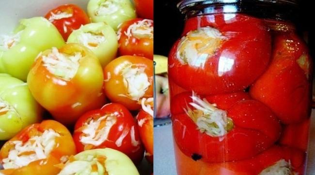Фарширований капустою перець - рецепт приготування