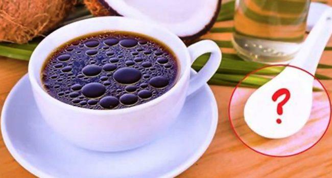 Кава з корицею і кокосовим маслом - рецепт приготування