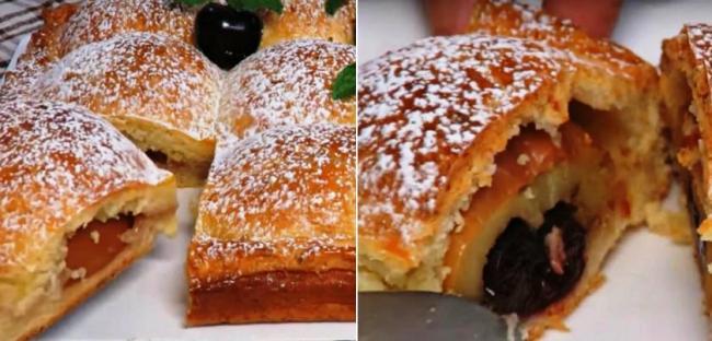 Яблучний пиріг на сирному тісті - рецепт приготування