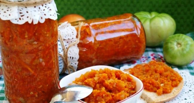 Ікра із зелених помідорів – рецепт приготування покроковий з фото