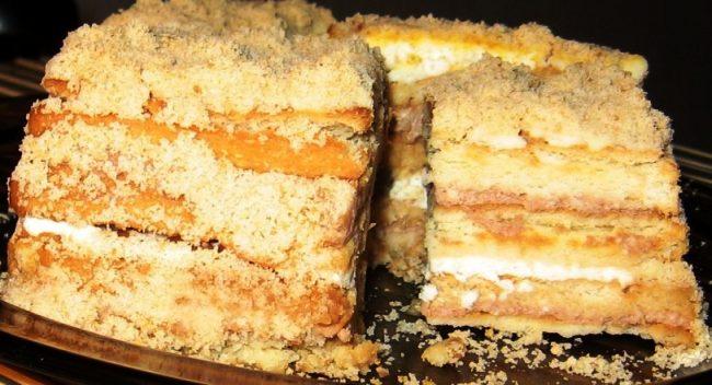 Торт без випічки з бананом - рецепт приготування