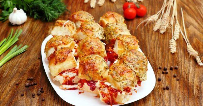 Гарячі бутерброди з куркою - рецепт приготування