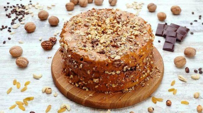 Торт «Солодкий горішок» - рецепт приготування
