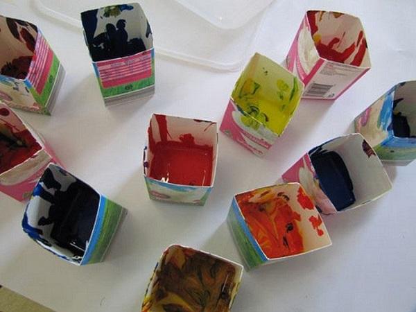 поделки из коробок от сока