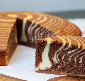 Простий рецепт приготування торта «Зебра»