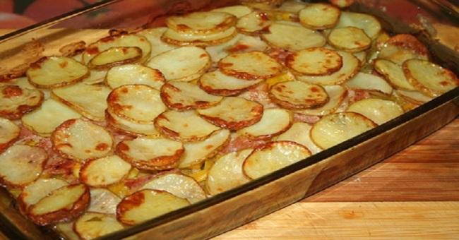 Картопля з кабачками