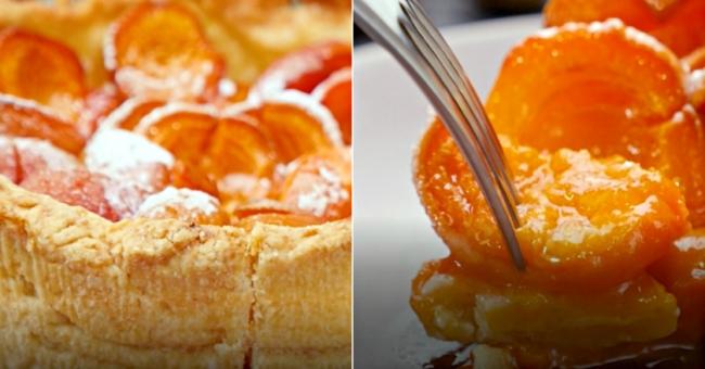 Пиріг з абрикосами на пісочному тісті   рецепт приготування